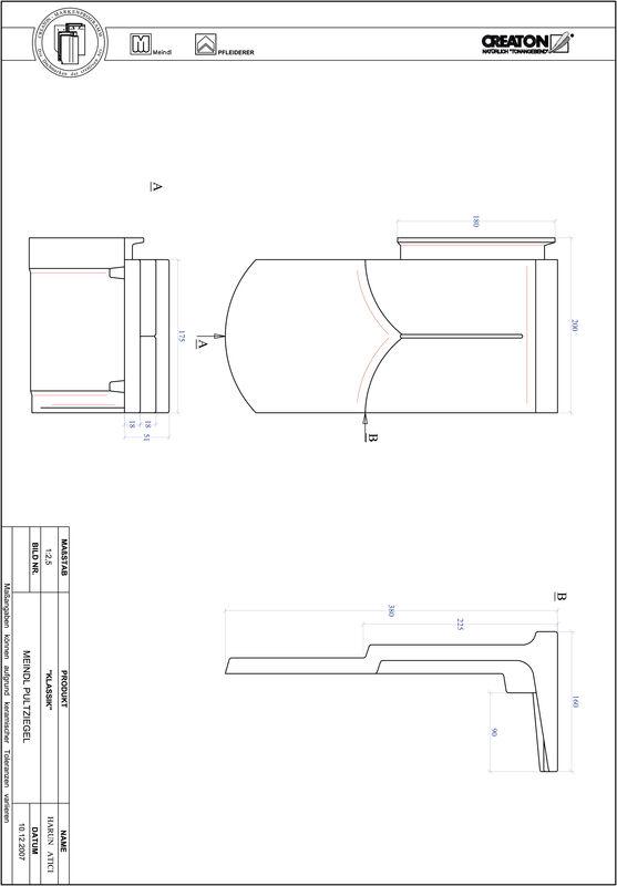 Termék CAD file KAPSTADT kerekvágású RUND-PULT