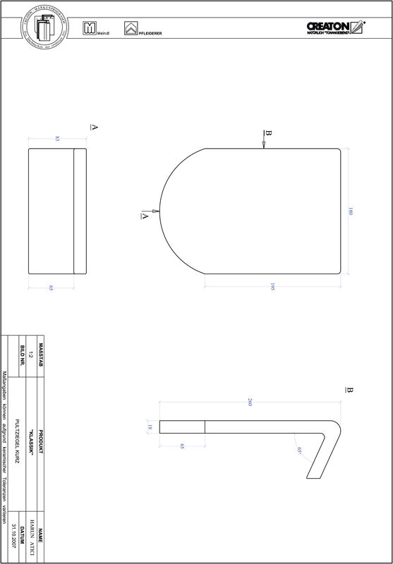 Termék CAD file KAPSTADT kerekvágású RUND-PULT-kurz1