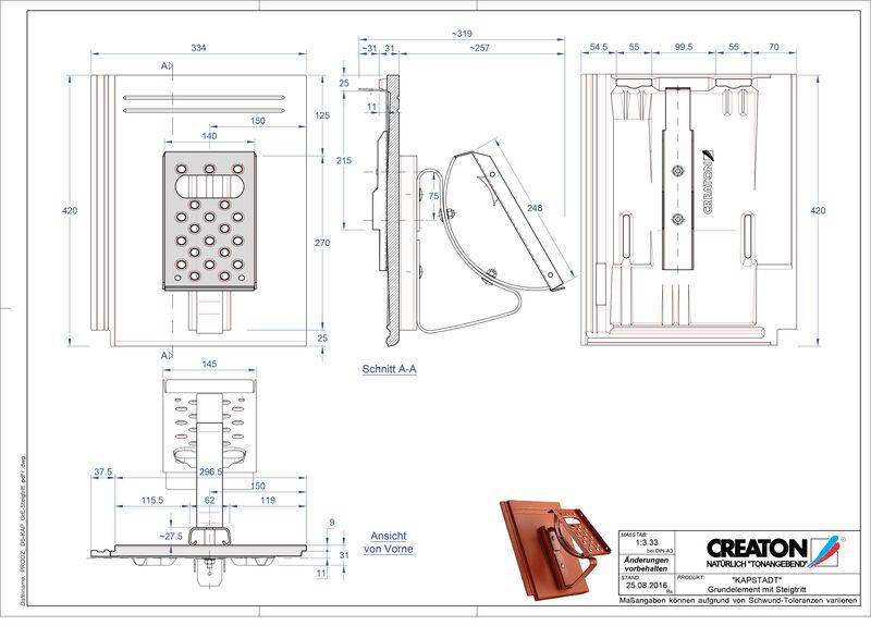 Termék CAD file KAPSTADT alapelem Steigtritt