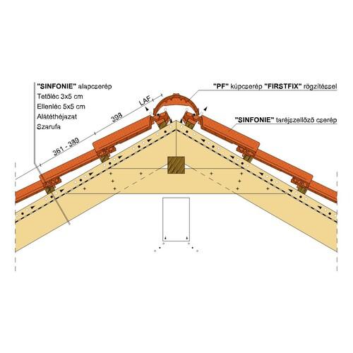 Termék műszaki rajz - Sinfonie gerinc 2