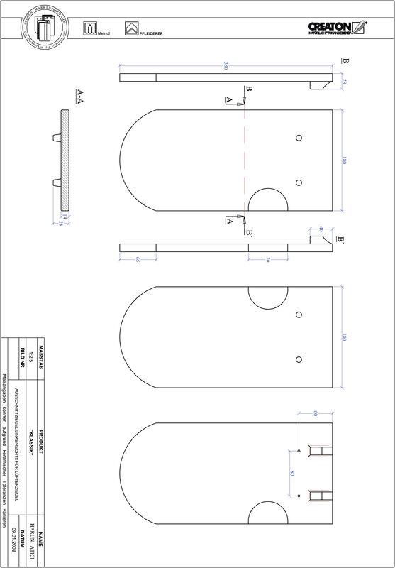 Termék CAD file KAPSTADT kerekvágású RUND-AUSSCHNITT-LUEFTZ
