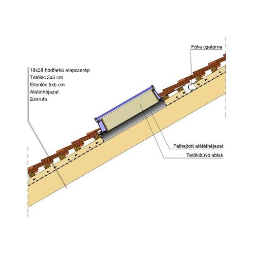 Termék műszaki rajz - Klassik tetőkibúvó