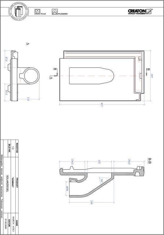 Termék CAD file DOMINO Szolár SOLAR