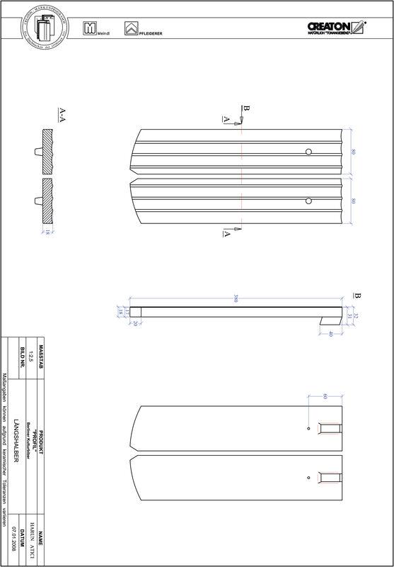 Termék CAD file PROFIL szegmensvágású BKBI-LH