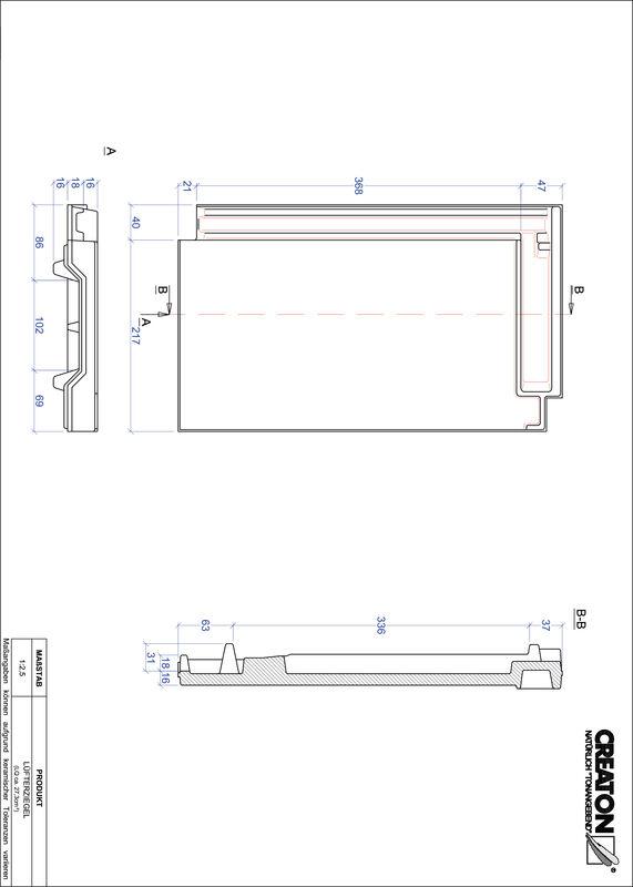 Termék CAD file DOMINO szellőző cserép LUEFTZ
