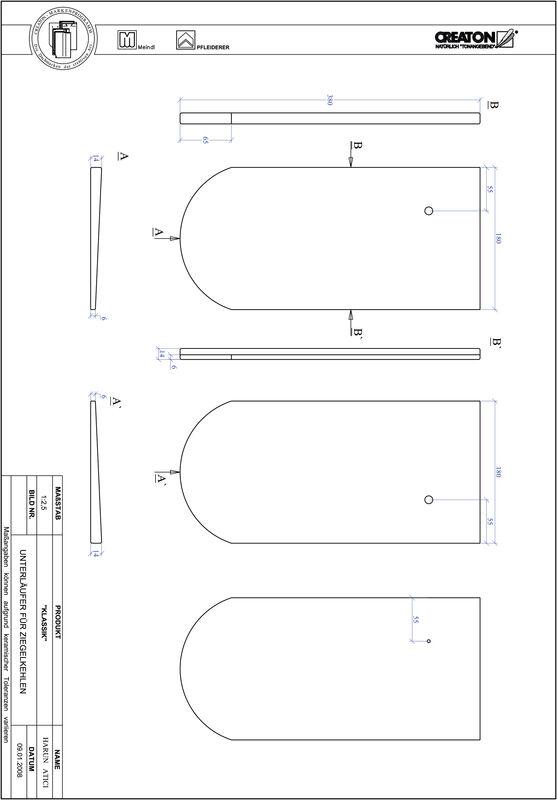 Termék CAD file KAPSTADT kerekvágású RUND-UNTERLAEUFER