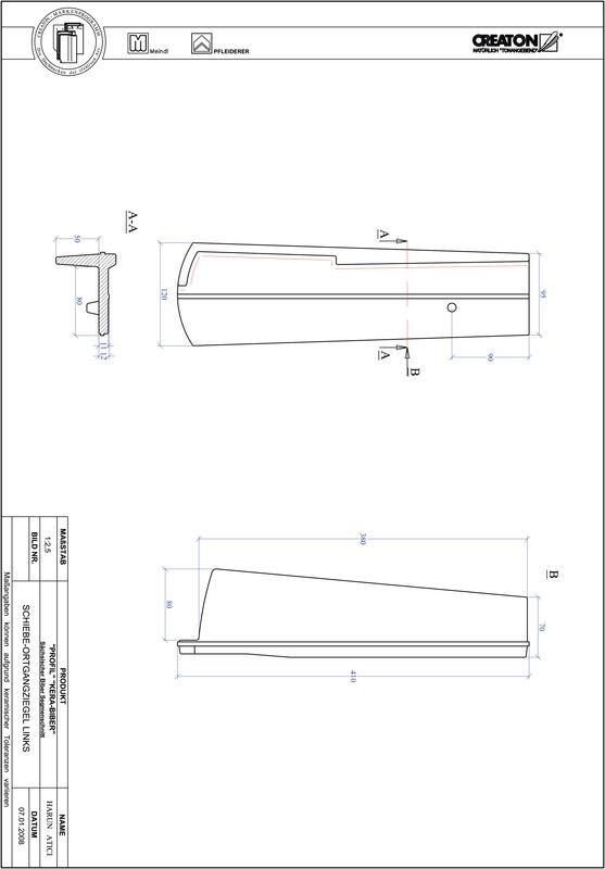 Termék CAD file PROFIL szegmensvágású KERA-SAECHS-18-CM-OGL