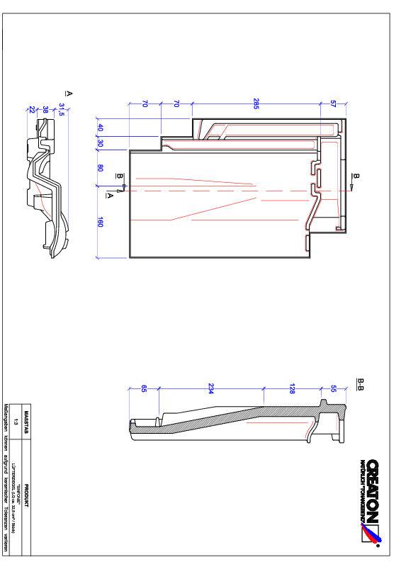 Termék CAD file SINFONIE szellőző cserép LUEFTZ